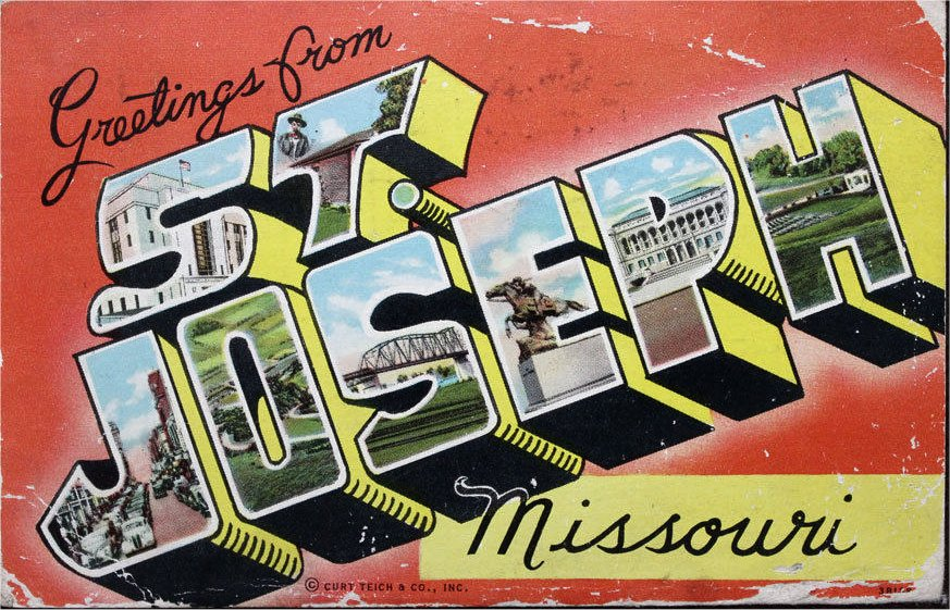 Escorts St Joseph Mo >> St Joseph Nostalgic Advertising Postcard Memorabila Of The